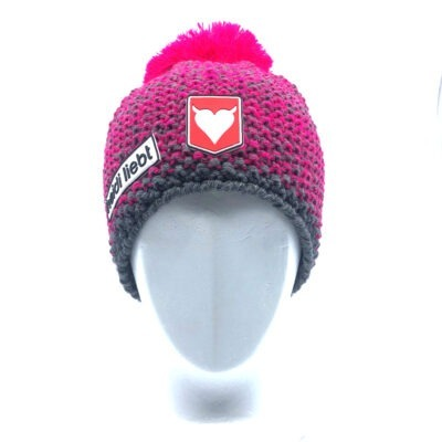 Beanie Barly Grey + Magenta